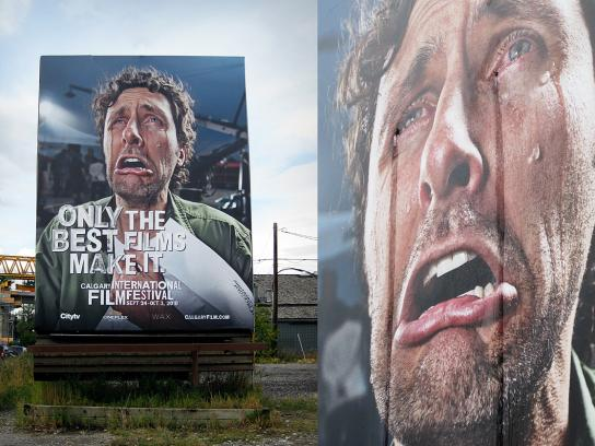 Calgary International Film Festival Outdoor Ad -  Crying billboard