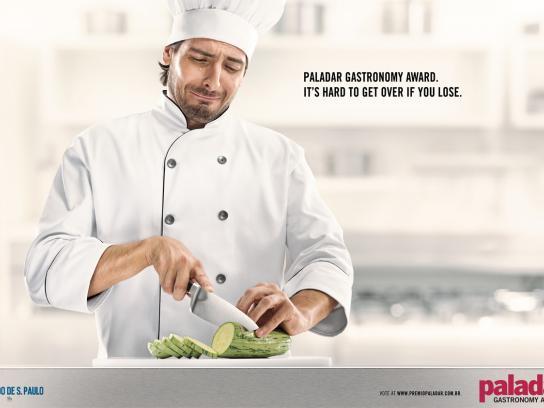 Paladar Gastronomy Award Print Ad -  Crying Chef 1