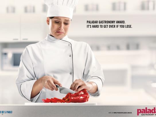 Paladar Gastronomy Award Print Ad -  Crying Chef 2