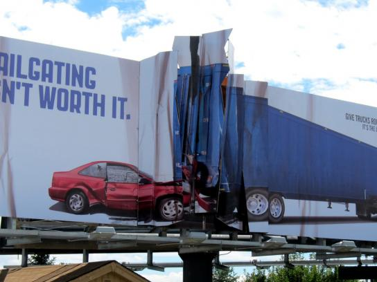 Colorado State Patrol Outdoor Ad -  Billboard Collision