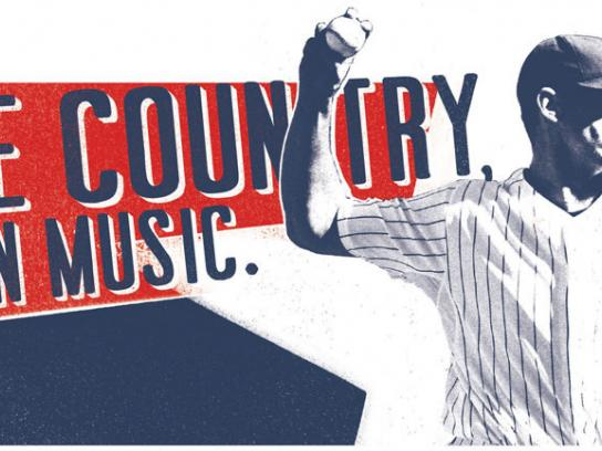 The Chicago Cubs Print Ad -  Chin music