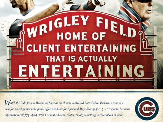 The Chicago Cubs Print Ad -  Entertaining