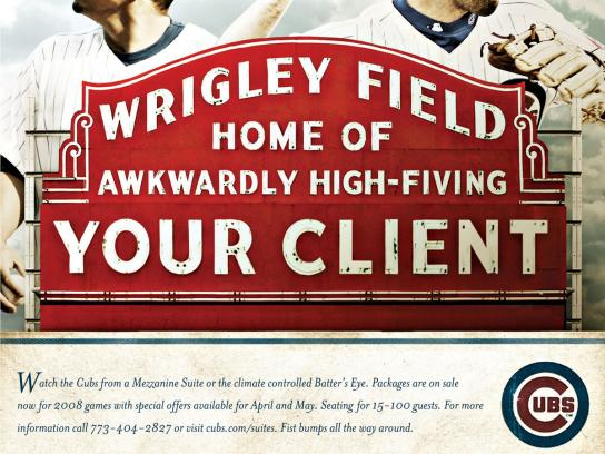 The Chicago Cubs Print Ad -  High 5