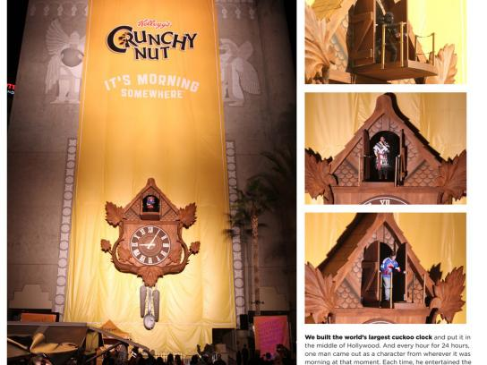 Kellogg's Outdoor Ad -  The World's Biggest Cuckoo Clock