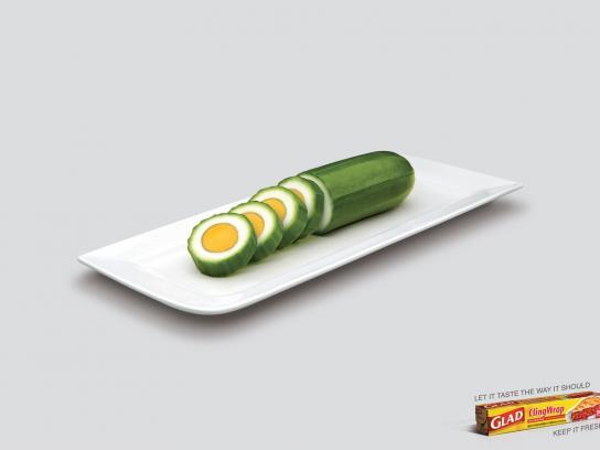 Glad Print Ad -  Cucumber