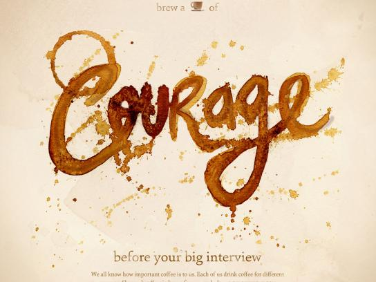 Keurig Print Ad -  Cup of the Day, Courage