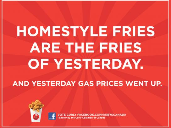 Arby's Outdoor Ad -  Gas prices