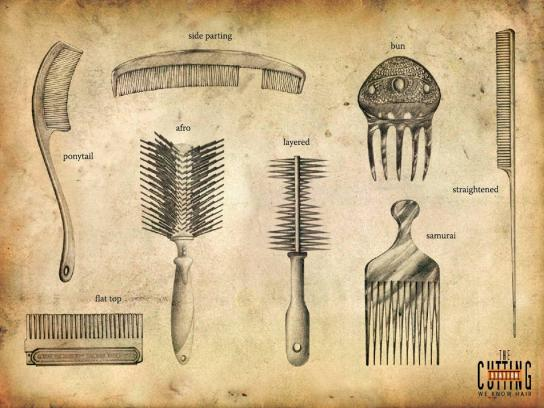Cutting Station Print Ad -  Combs