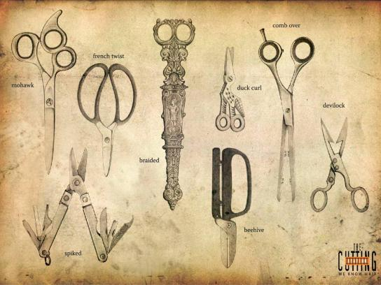 Cutting Station Print Ad -  Scissors