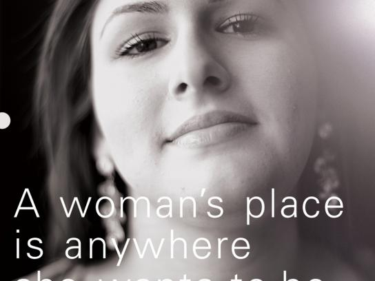 Christian Women's Job Corp Print Ad -  Woman's place