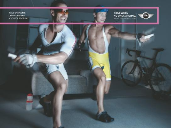 Mini Print Ad -  Cyclists