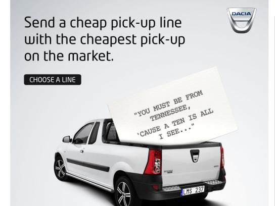 Dacia Digital Ad -  Cheap Pick-up Lines