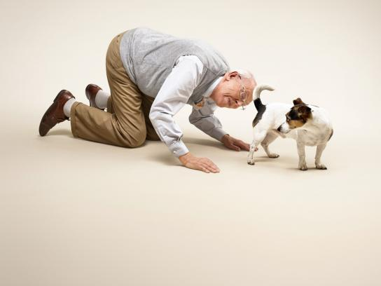 Date a Dog Print Ad -  Old Man