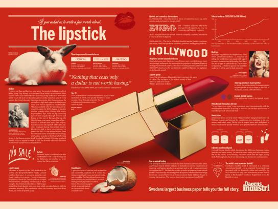 Dagens Industri Print Ad -  The lipstick