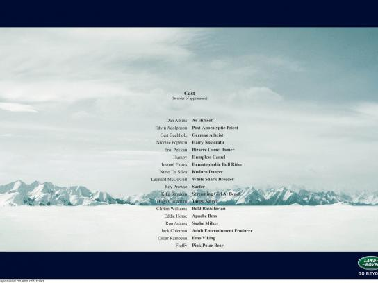 Land Rover Print Ad -  Artic Tale