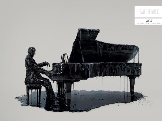 DCS Print Ad -  Save the music, Piano