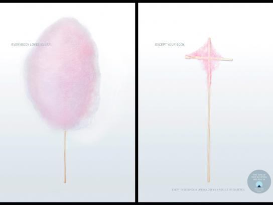 Deutscher Diabetiker Bund Print Ad -  Cotton Candy