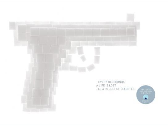 Deutscher Diabetiker Bund Print Ad -  Pistol