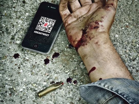 Reporters Without Borders Digital Ad -  #DeadTweet