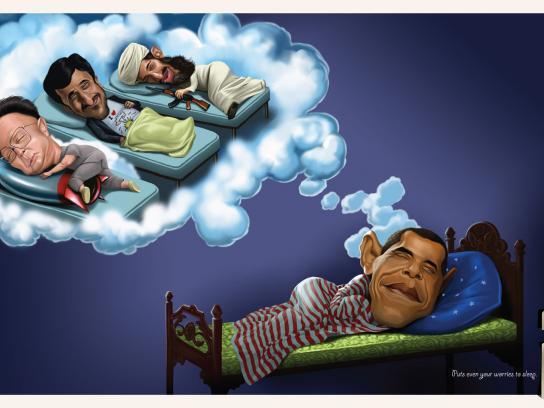 Shivam Handloom Print Ad -  Obama