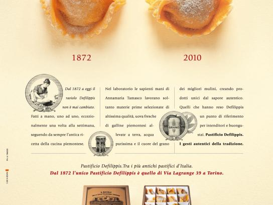 Pastificio DeFilippis Print Ad -  1872-2010