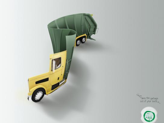 AloeDent Print Ad -  Garbage Trucks, 1
