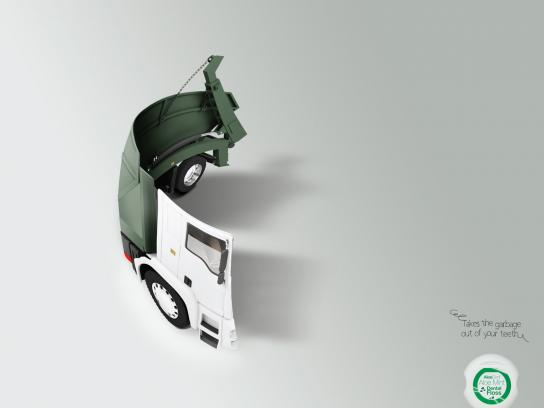 AloeDent Print Ad -  Garbage Trucks, 2