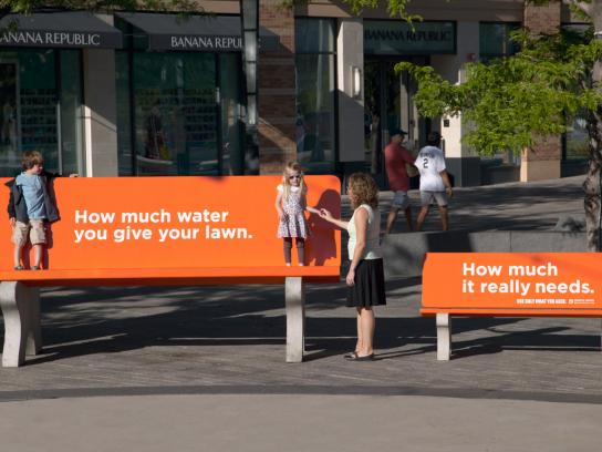 Denver Water Ambient Ad -  Benches