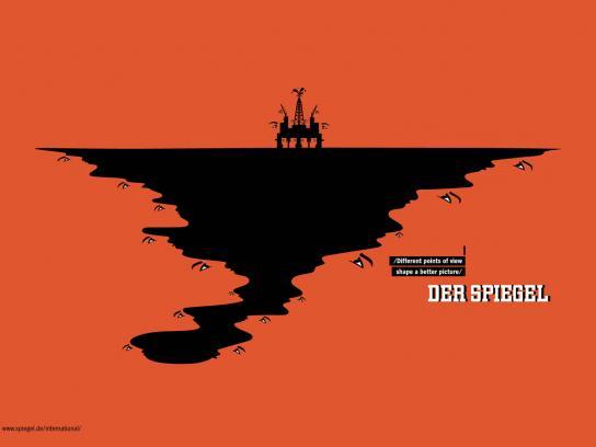Der Spiegel Print Ad -  Oil spill