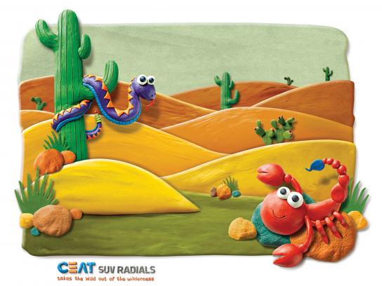 CEAT Print Ad -  Desert