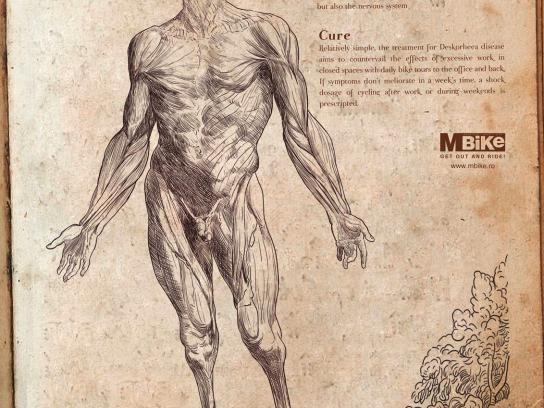 MBike Magazine Print Ad -  Pathology of modern man, Deskorheea