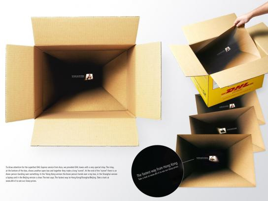 DHL Direct Ad -  Tunnel box