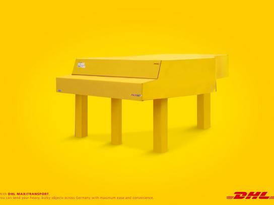 DHL Print Ad -  Piano