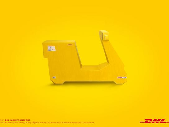 DHL Print Ad -  Moped