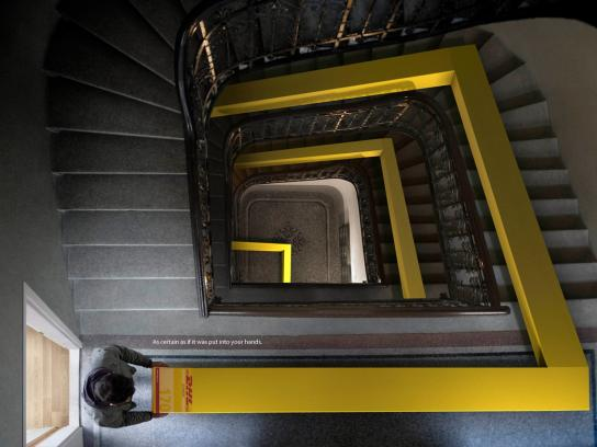 DHL Print Ad -  Stairs
