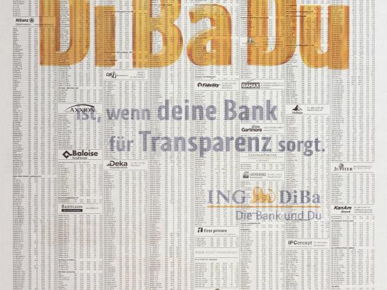 ING Print Ad -  Shadowprint