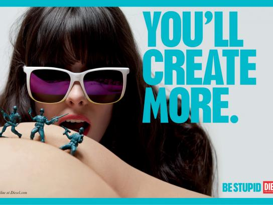 Diesel Outdoor Ad -  Be stupid, You'll create more