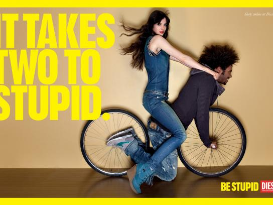 Diesel Outdoor Ad -  Be stupid, It takes two to stupid