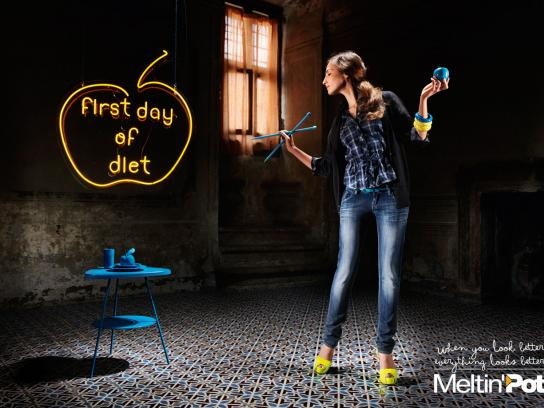 Meltin'Pot Print Ad -  Diet