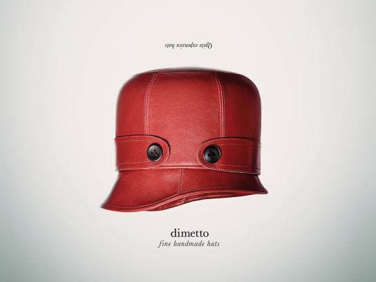 Dimetto Print Ad -  Fine handmade hats, 2