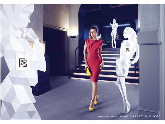 Harvey Nichols Print Ad -  Woman, 2