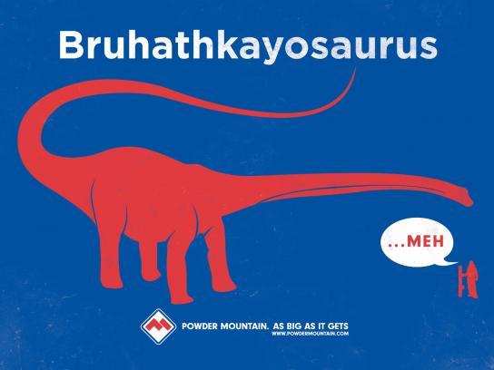 Powder Mountain Print Ad -  Dino