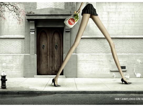 Disco Print Ad -  Miniskirt
