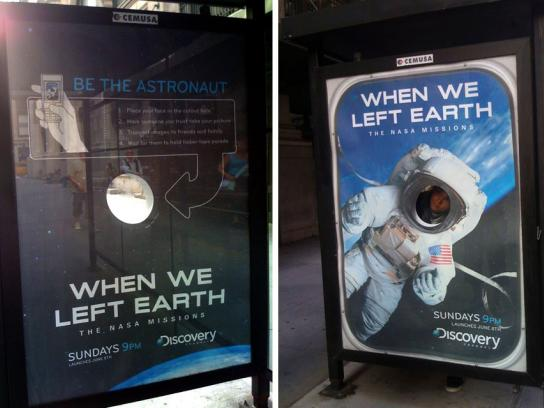 Discovery Channel Ambient Ad -  Bus shelter