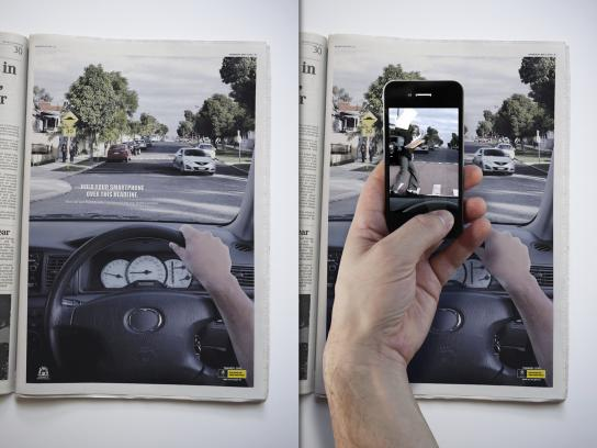Western Australian Office of Road Safety Print Ad -  Smartphone