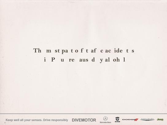 Divemotor Print Ad -  Emptiness