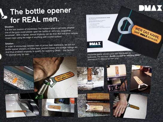 DMAX Ambient Ad -  The bottle opener for real men