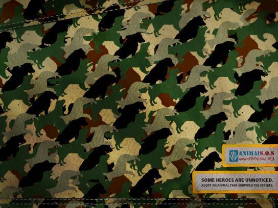 ANIMAIS.O.S Print Ad -  Camuflage, Dog