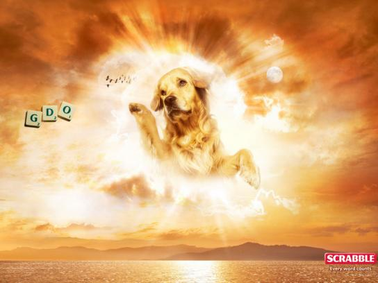 Scrabble Print Ad -  Dog-god