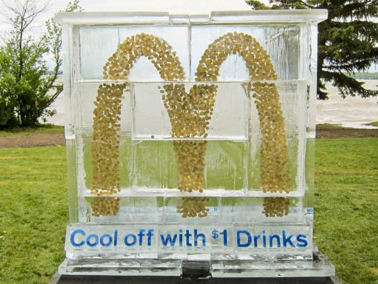 McDonald's Outdoor Ad -  Ice Sculpture Stunt